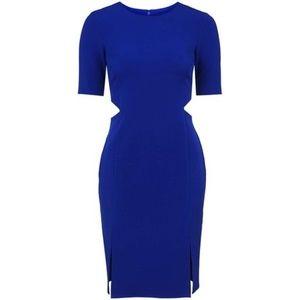 Topshop Royal Blue Cutout Midi Dress  Size 6